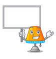 bring board character table office lamp in indoor vector image vector image