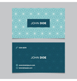 business card pattern blue 12 vector image vector image