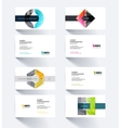 business card template with geometric shape vector image vector image