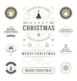 Christmas Labels and Badges Design Elements vector image