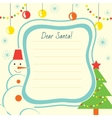Christmas letter template to Santa Claus for print