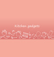 cooking flat horizontal seamless pattern vector image