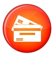 Credit card icon flat style vector image vector image