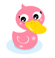 Cute little pink rubber duck isolated on white vector | Price: 1 Credit (USD $1)