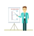 doctor with presentation at flipchart vector image vector image
