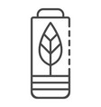 eco battery icon outline style vector image vector image