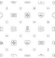 emergency icons pattern seamless white background vector image vector image
