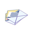 envelope with message correspondence information vector image
