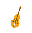fiddle musical instrument classic object vector image vector image