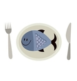 Fish on a plate vector image vector image