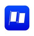 flag of ireland icon digital blue vector image