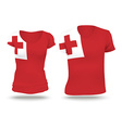 Flag shirt design of Tonga vector image vector image