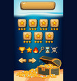 game template with underwater background vector image