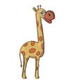 giraffe on white background cute cartoon animal vector image
