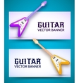 guitar background concept vector image vector image