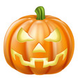 halloween carved pumpkin vector image