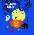 halloween poster flyer banner or background vector image vector image