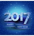 Happy new year 2017 blue background vector image