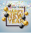 happy new year 2018 with shiny vector image vector image
