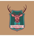 Hipster style logo vector image vector image