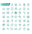 hotel services icons set vector image