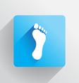 Human footprint vector image vector image