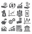 investment icons set on white background vector image