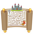knight maze puzzle game template vector image