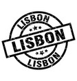 lisbon black round grunge stamp vector image vector image