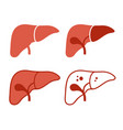 liver icon set on white background vector image vector image
