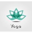lotus Yoga vector image vector image