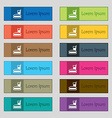 lunch box icon sign Set of twelve rectangular vector image vector image