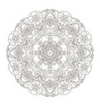 mandala oriental pattern traditional coloring vector image vector image