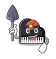 miner piano mascot cartoon style vector image
