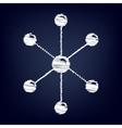 Molecule sign Flat style icon vector image vector image