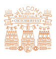 oktoberfest design welcome to the beer festival vector image vector image