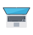 Opened laptop device vector image