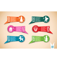 Origami Christmas banners set vector image vector image