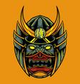 samurai oni mask vector image vector image