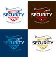 security hawk logo vector image vector image