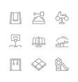 set line icons playground vector image