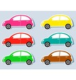 set of colorful retro cars vector image
