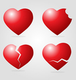 Set of heart vector image vector image