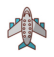 shadow airplane cartoon vector image vector image