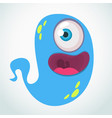 silly cartoon alien with one eye vector image