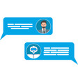 smart chatbot for your business concept vector image vector image