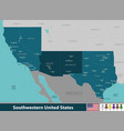 southwestern united states vector image vector image