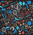 sport sketch pattern hand drawn vector image