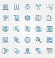 survey colored icons set - check list vector image