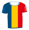 t-shirt with flag romania vector image vector image
